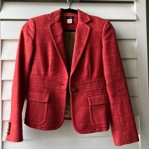 JCrew Wool Blazer in Sweet Persimmon